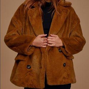 Free People Kate Faux Fur Jacket